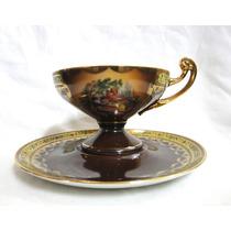 Antigua Taza De Colección Porcelana Fina Checoslovaca