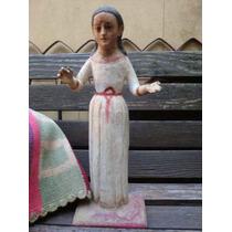 Antigua Talla Virgen Madera Sin Niño Dios Santa Inmaculada