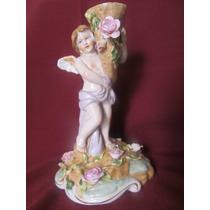 El Arcon Hermosa Y Antigua Figura Porcelana Meissen Angel