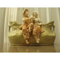 Jardinera Porcelana Faiance- Numerada- Siglo 19 - 29x15x15cm