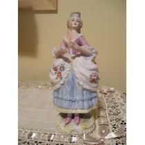 Dama En Porcelana Alemana Christian Fischer 1887-1910