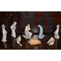 Pesebre Lladró 8 Piezas Hermoso Navidad