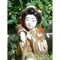 Antigua Figura Japonesa, Divina, Sellada