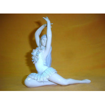 J O Y A Figura Bailarina Ballet Porcelana Europea (01077x)f