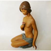 Magnifica Figura Lladro Original Desnudo De La Rosa C1978
