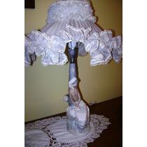 Hermosa Lámpara De Mesa De Porcelana Nao By Lladró