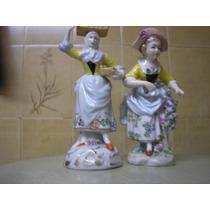 El Arcon Par De Figuras Porcelana Sitzendorf Germany De 12cm