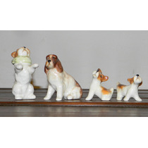 Lote 4 Perritos Miniaturas Porcelana Inglesa England