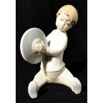 Figura De Porcelana Española Lladró Niño Con Platillo