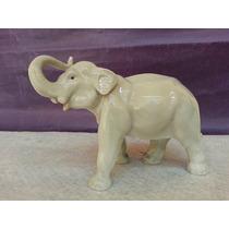 Hermoso Y Antiguo Elefante De Porcelana Alemana Heubach