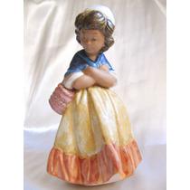 El Arcon Figura Porcelana Lladro Gres Niña Esperando