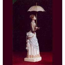 El Arcon Gran Figura Porcelana Nao Lladro Dama Del Paraguas