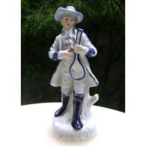 Figura Porcelana Caballero Músico Juglar - No Envío