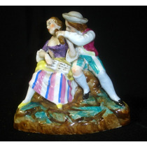Delicada Excelente Figura Porcelana Europea (1259)f