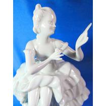 El Arcon Figura De Porcelana Wallendord Dama Antigua 5106