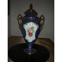 Anfora Potich Noritake Azul Y Oro Impecable - Sello Original