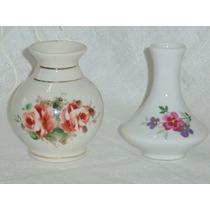 Floreros Violeteros De Porcelana Pintado A Mano