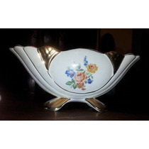 Antigua Bella Jardinera Porcelana Faco Bordes Oro Impecable