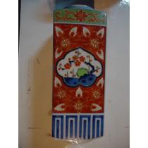 Florero Oriental Estilo Imari Sellado Porcelana