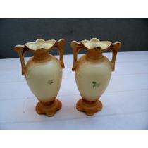 Pandam De Floreros De Porcelana Checoeslovaca(d)
