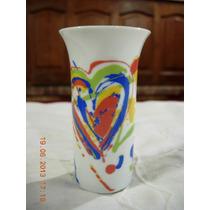 Hermoso Florerito De Porcelana Rosenthal De Diseño 10 Cm