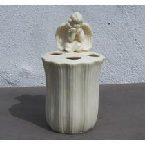 Historical*- Violetero O Lapicero Con Angel-porcelana -envío