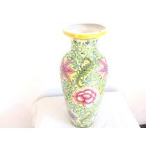 Adorno Florero Jarron Deco Porcelana Motivos Florales. Pi