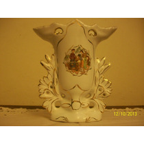 Inospeli Hermoso Florero Porcelana Con Dorado(caja4)