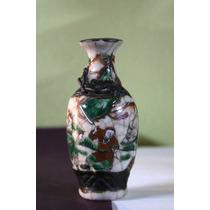 Antiguo Violetero De Porcelana Japonesa Chengua (150393)