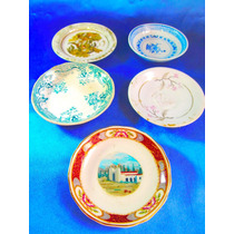 El Arcon Lote De 5 Platos De Porcelana Varios 12 Cm 19105