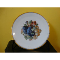 Plato En Porcelana Alemana Con Frutas