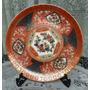 Plato Decorativo Antiguo Porcelana Japonesa Flores Y Oro!