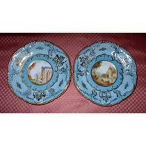 Antiguo Par Platitos Porcelana Rosenthal Germany