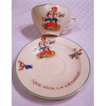 Monijor62-antigua Taza Plato Infantil Inglesa Porcelana