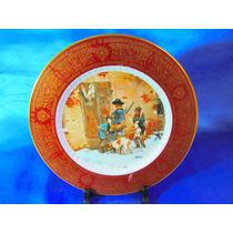 El Arcon Plato De Porcelana Tsuji Borde Oro 24 Kil. 7107
