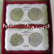 2 Bandejas Monedas De Colección Porcelana Verbano Ed. Ltda.
