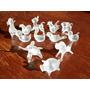 Figuras Animalitos Vidrio Pulido Lote 12 Miniaturas Navidad