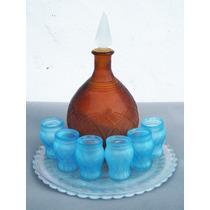 Historical*-bello Juego Licorera Y Copas Arts & Crafts-envio
