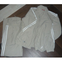 Conjunto Deportivo Adidas Beige Mujer Talle M Original