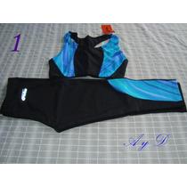 Conjunto Lycra - Top Y Calza Pescadora -