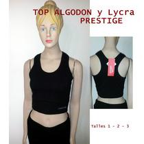 Prestige Top De Algodón Y Lycra Ultima Moda Deportiva 1-2-3
