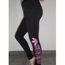Calzas Adidas Deportivas Mujer Lycra Y Microfibra Estampadas