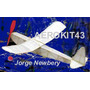 Avión De Madera Balsa Para Armar Jorge Newbery- Motor A Goma