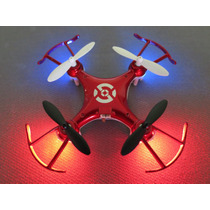Drone Mini Quadcopter Radio Control Luces Led 4 Canales 2.4g