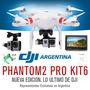 Cuadricoptero Dji Phantom 2 Gimbal Gps Fpv Gopro Naza Kit 5