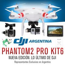 Cuadricoptero Dji Phantom 2 Gimbal Gps Fpv Gopro Naza Kit 6