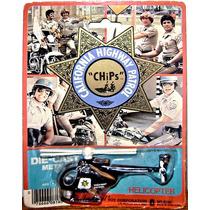 Chips Helicóptero Policia Retro Toy Juguete 1980 Vintage