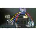 Aria Conectores Plug Interpedales Cables Efectos Pedales X 6