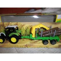 Die - Cast Metal Tractor Y Acoplado (caballito)