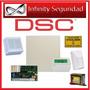 Kit Central Alarma Dsc 585 Con Teclado Lcd Pk5501 Y Sensor